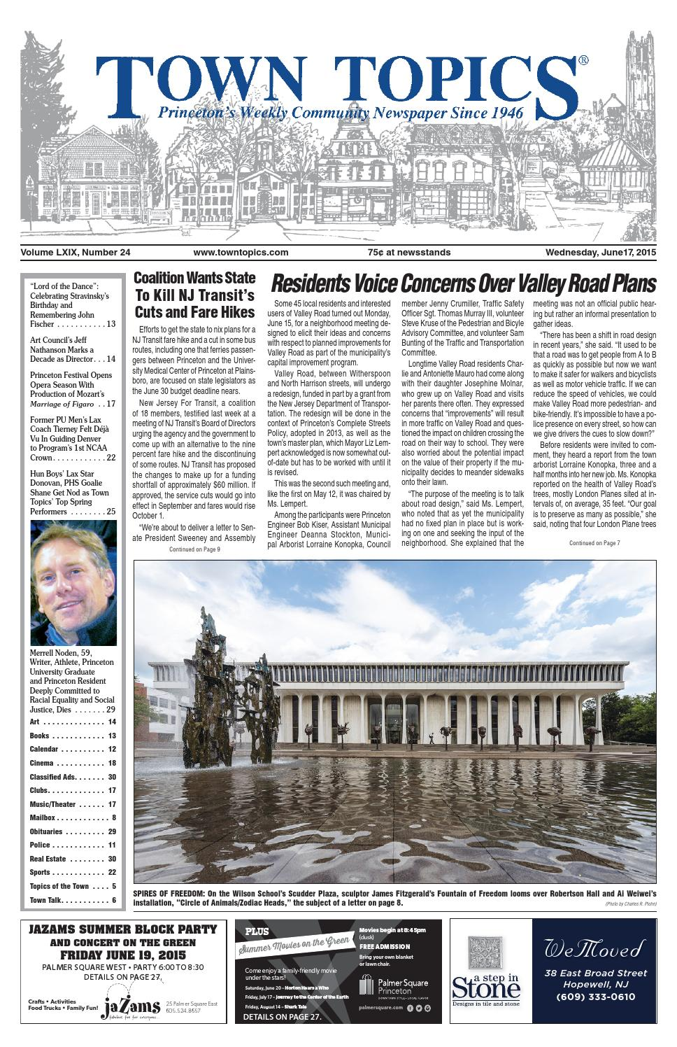 Town Topics Newspaper June 17, 2015 by Witherspoon Media
