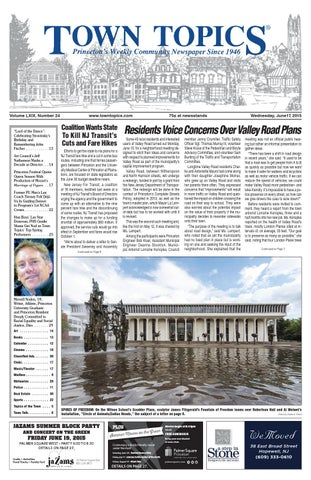 Town Topics Newspaper June 17 2015 By Witherspoon Media Group Issuu