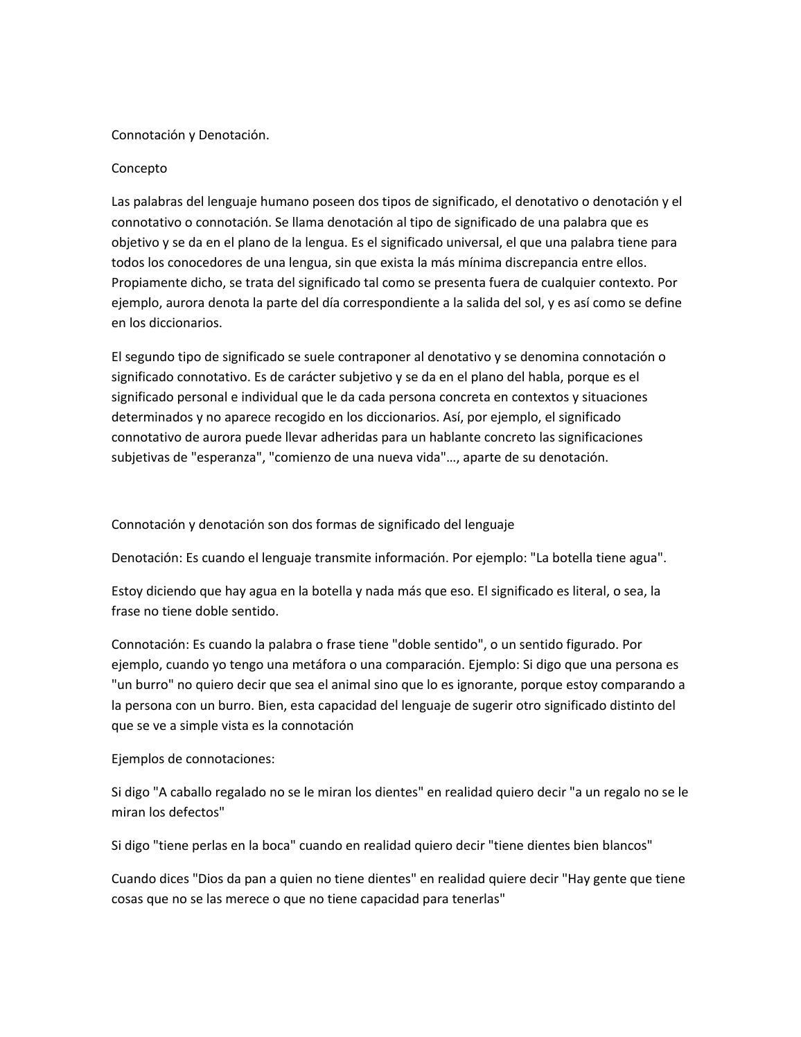 Connotación Y Denotación By Alondra Carreon Issuu