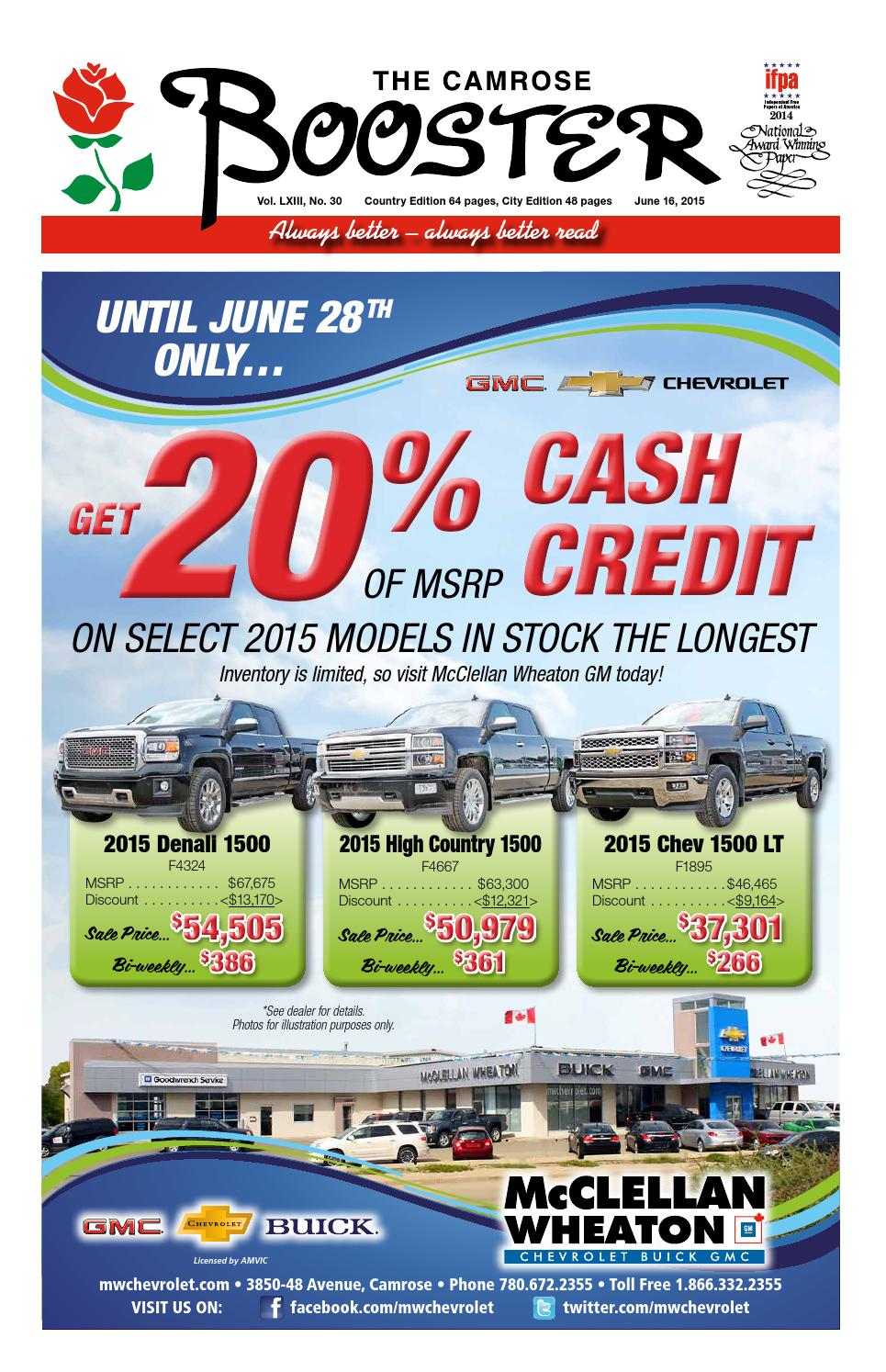 June 16 2015 Camrose Booster By The Camrose Booster Issuu