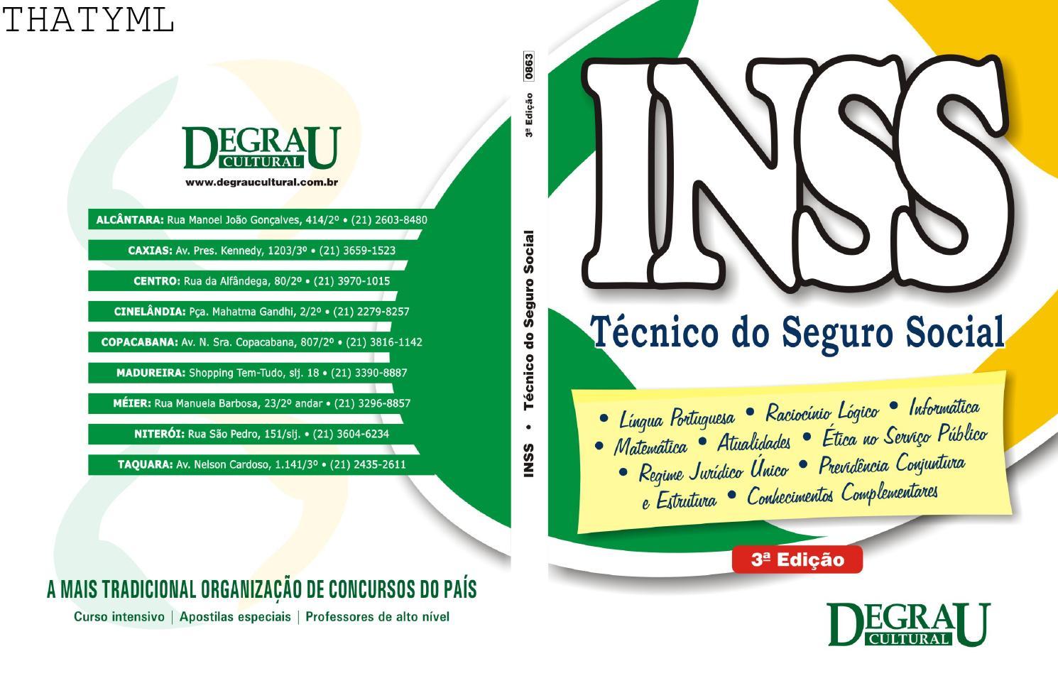04 apostila inss completa degrau cultural by Cris Carvalho - issuu 5982fcf9fce8b