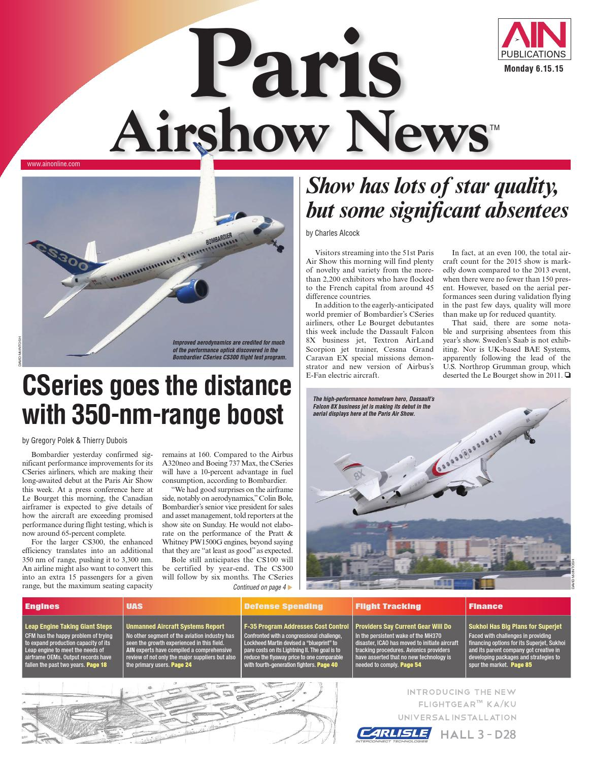 Textron Scorpion Jet News: Paris Airshow News 06-15-15 By Aviation International News