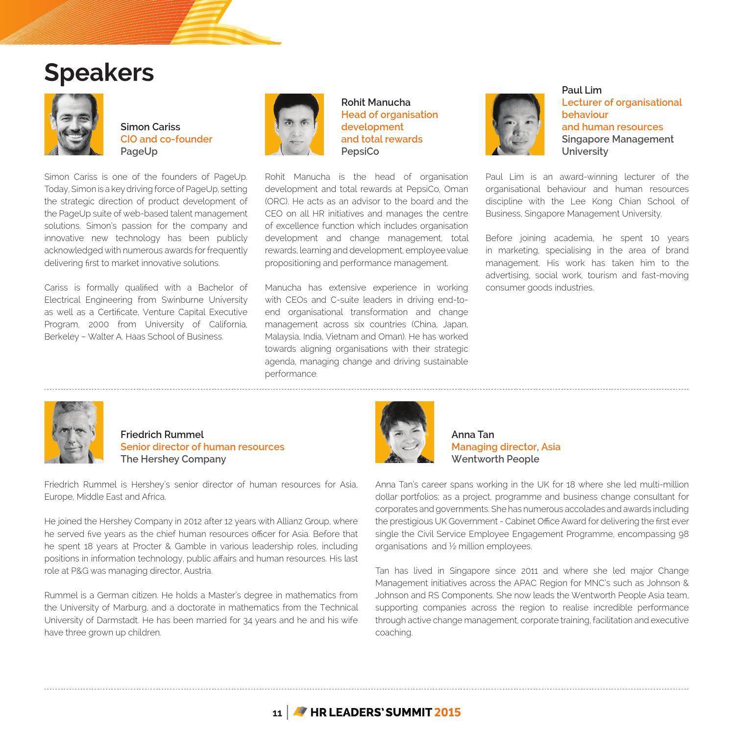HR Leaders Summit, Phuket 2015 - delegate book by Human