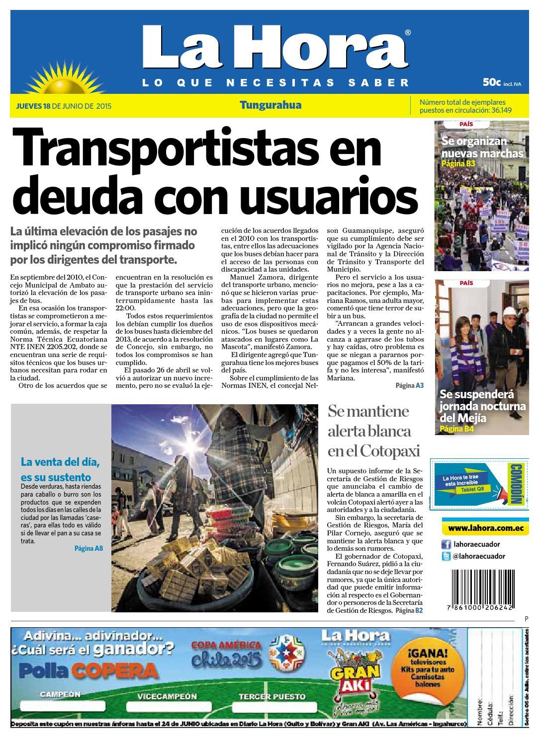 Ambato18junio2015 by Diario La Hora Ecuador - issuu 8e23f09ae6dca