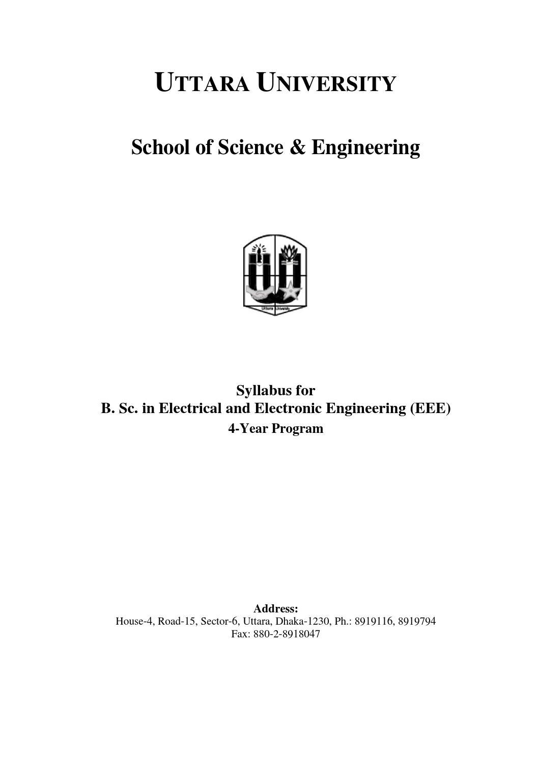 Bsc In Eee Syllabus For Website By Eeeuttara Issuu Electronic Circuit Design