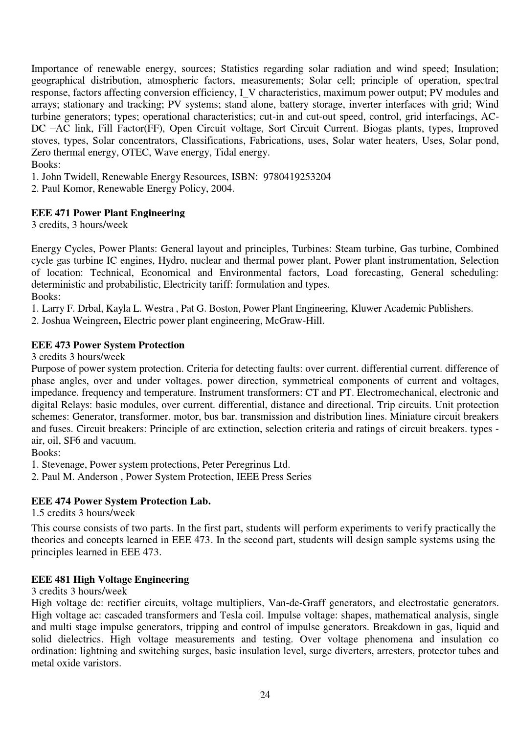Bsc In Eee Syllabus For Website By Eeeuttara Issuu Power Plant Engineering Layout