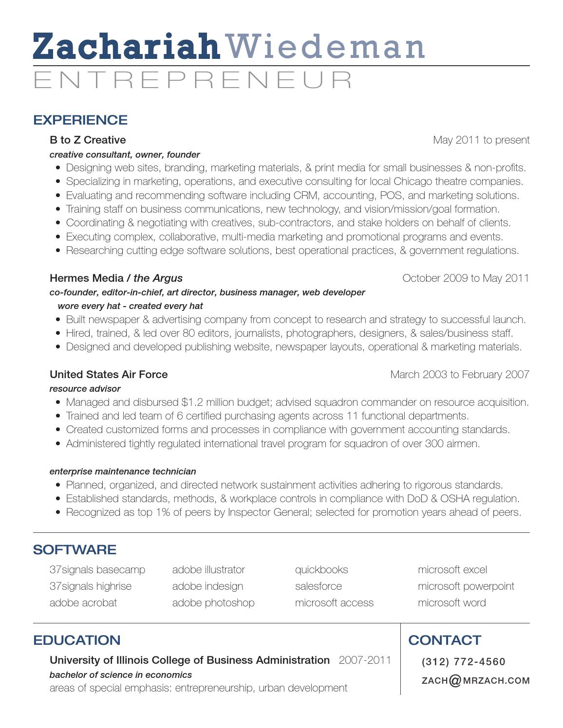 Best Resume For Non Profits Creative