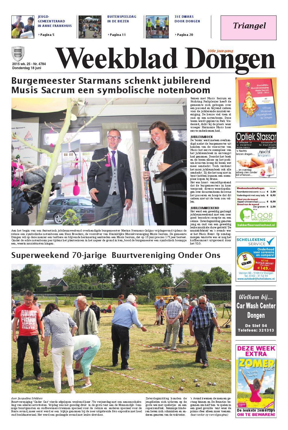 Weekblad Dongen 18 06 2015 By Uitgeverij Em De Jong Issuu