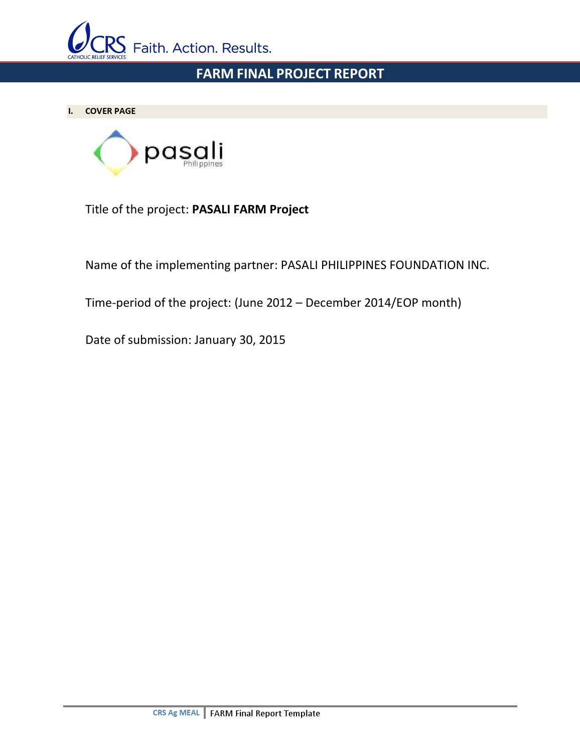 title page of project report sample