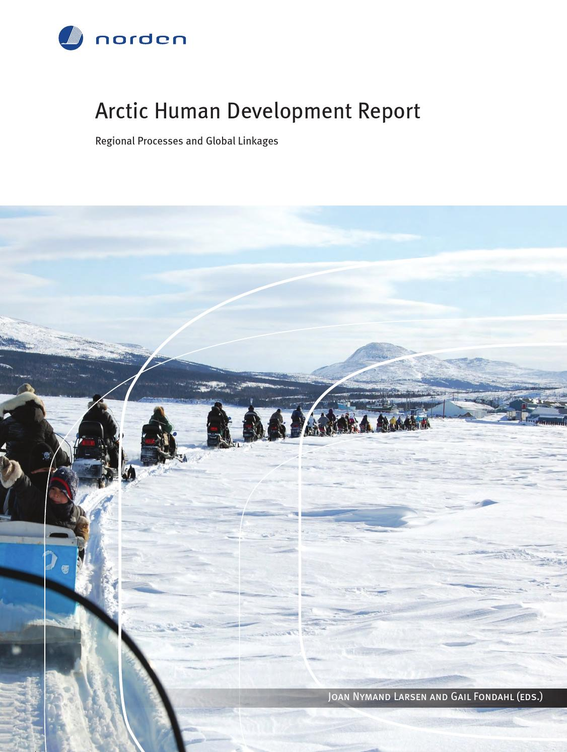Arctic Human Development Report By Nordisk Ministerrad Issuu