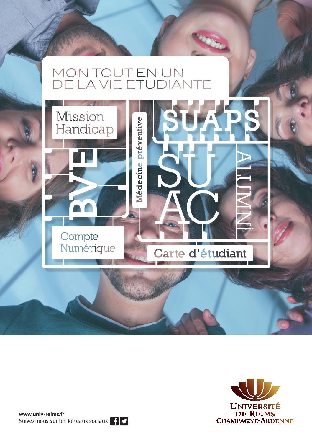 Mon tout en un de la vie tudiante lUniversit de Reims