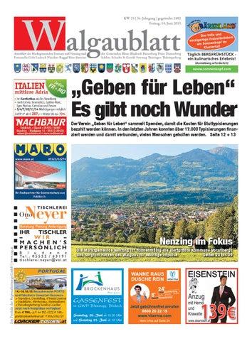 Walgaublatt 25 by Regionalzeitungs GmbH issuu