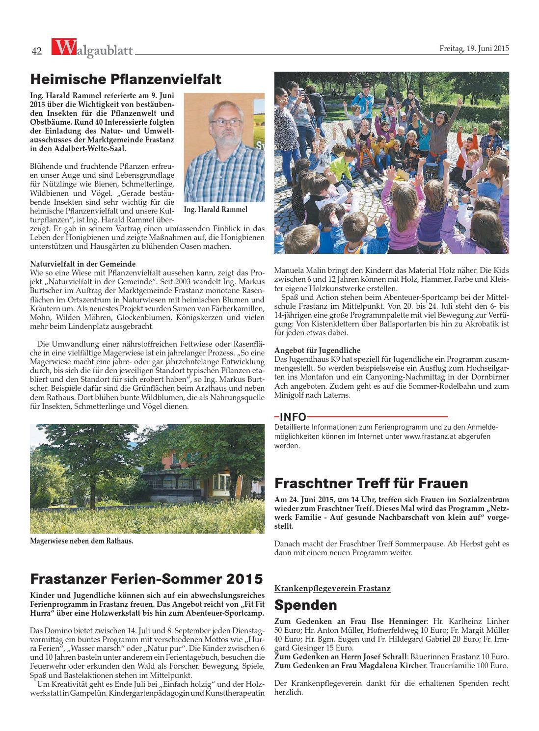 News: Archiv: Marktgemeinde Frastanz