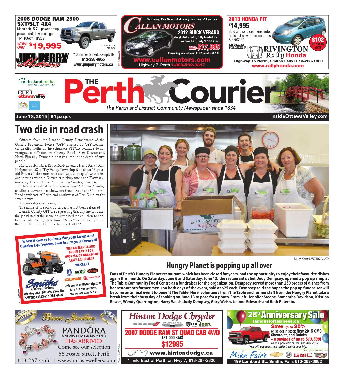 Perth061815 by Metroland East - The Perth Courier - issuu