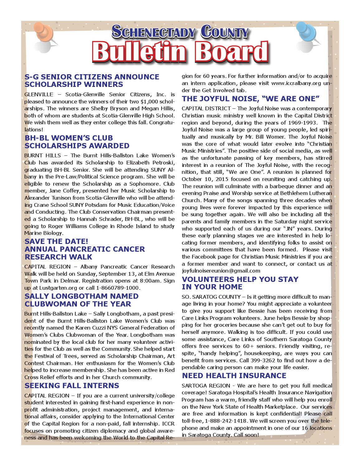 schenectady county bulletins 061815 by capital region