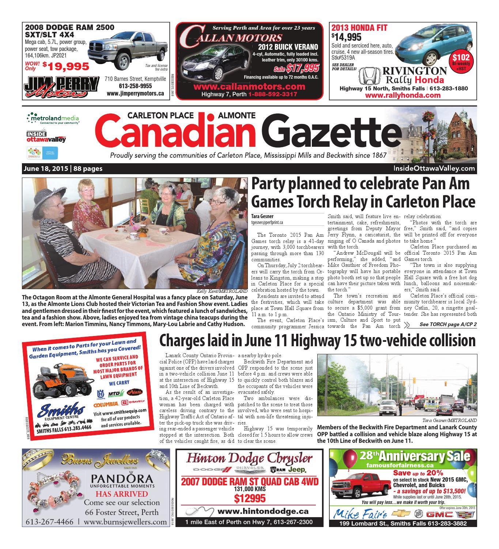 5c8bc2600 Almontecarletonplace061815 by Metroland East - Almonte Carleton Place  Canadian Gazette - issuu
