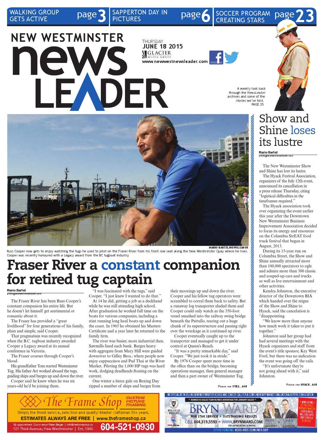 New Westminster NewsLeader June 18 2015 by New Westminster