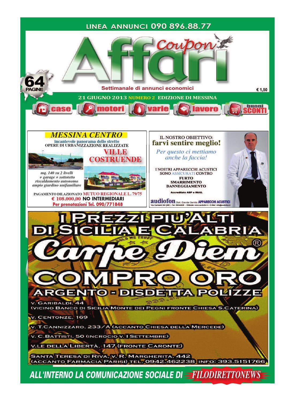Giornale Affari Annunci Messina 21 Giugno 2013 by Editoria Falco - issuu bf3e03dec9f