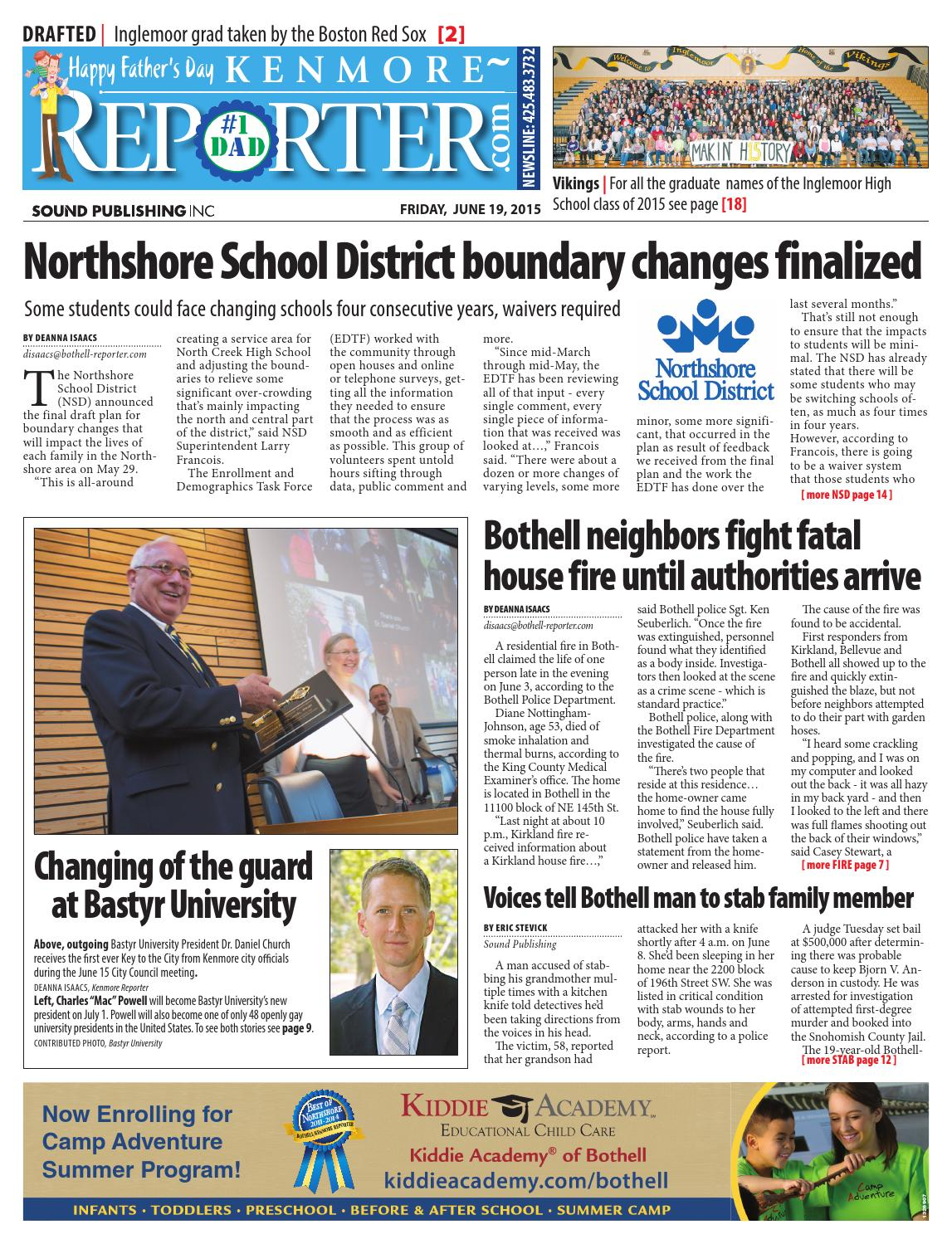 Bothell/Kenmore Reporter, June 19, 2015 by Sound Publishing