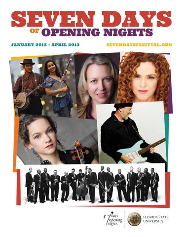 Seven Days Of Opening Nights January April 2013 Program By Opening
