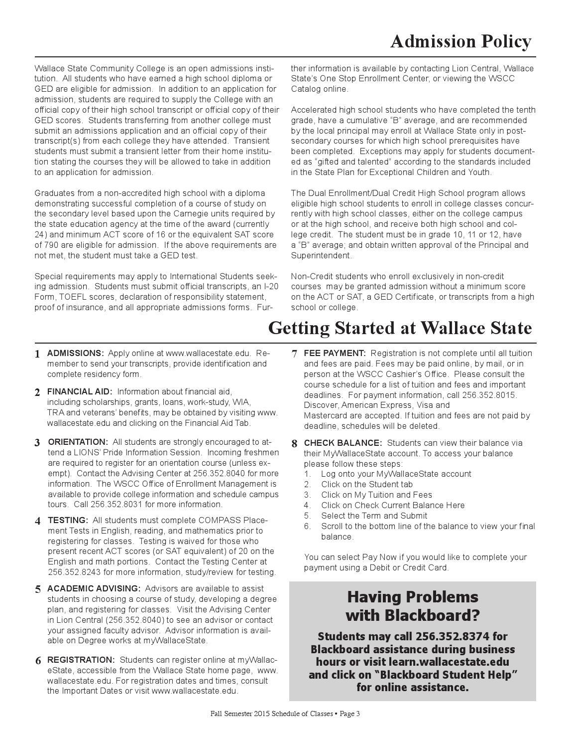 www.wallacestate.edu blackboard