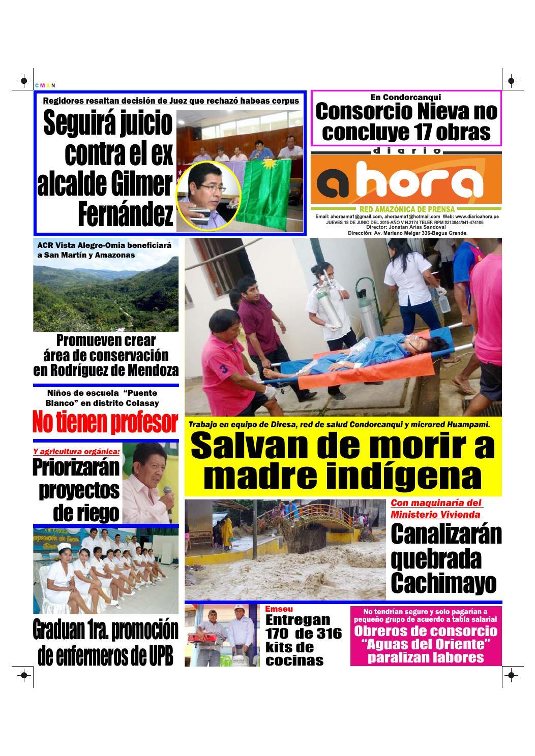 18 06 15 diario ahora amazonas by Jonatan Arias - issuu