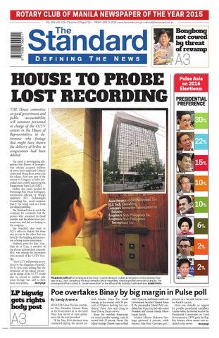 The Standard - 2015 June 19 - Friday by Manila Standard - issuu