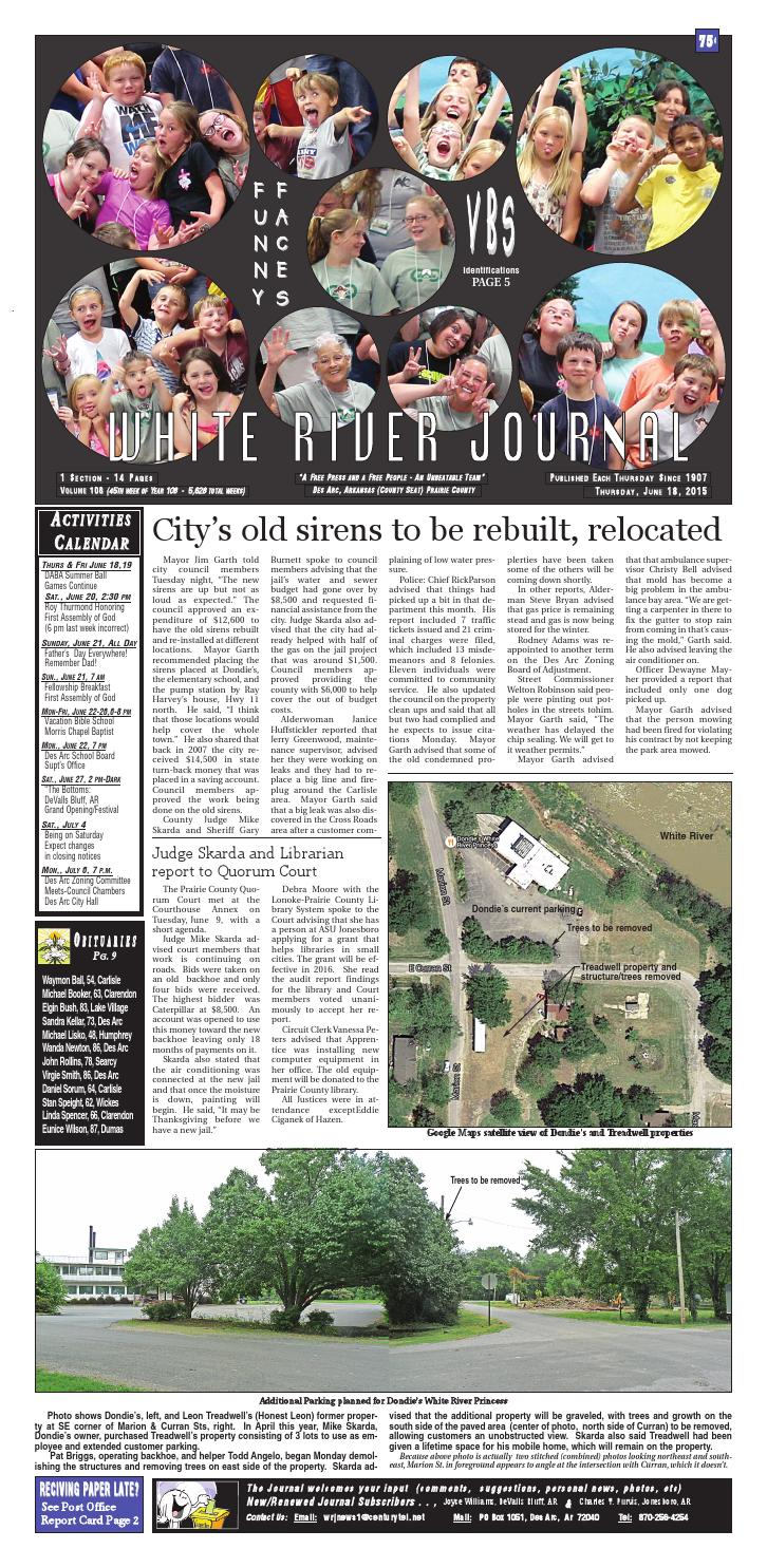 White river journal, june 18, 2015 by charles walls - issuu