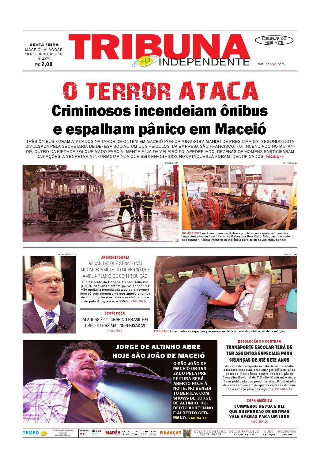 ab29993cc9aeb Edição número 2374 - 19 de junho de 2015 by Tribuna Hoje - issuu