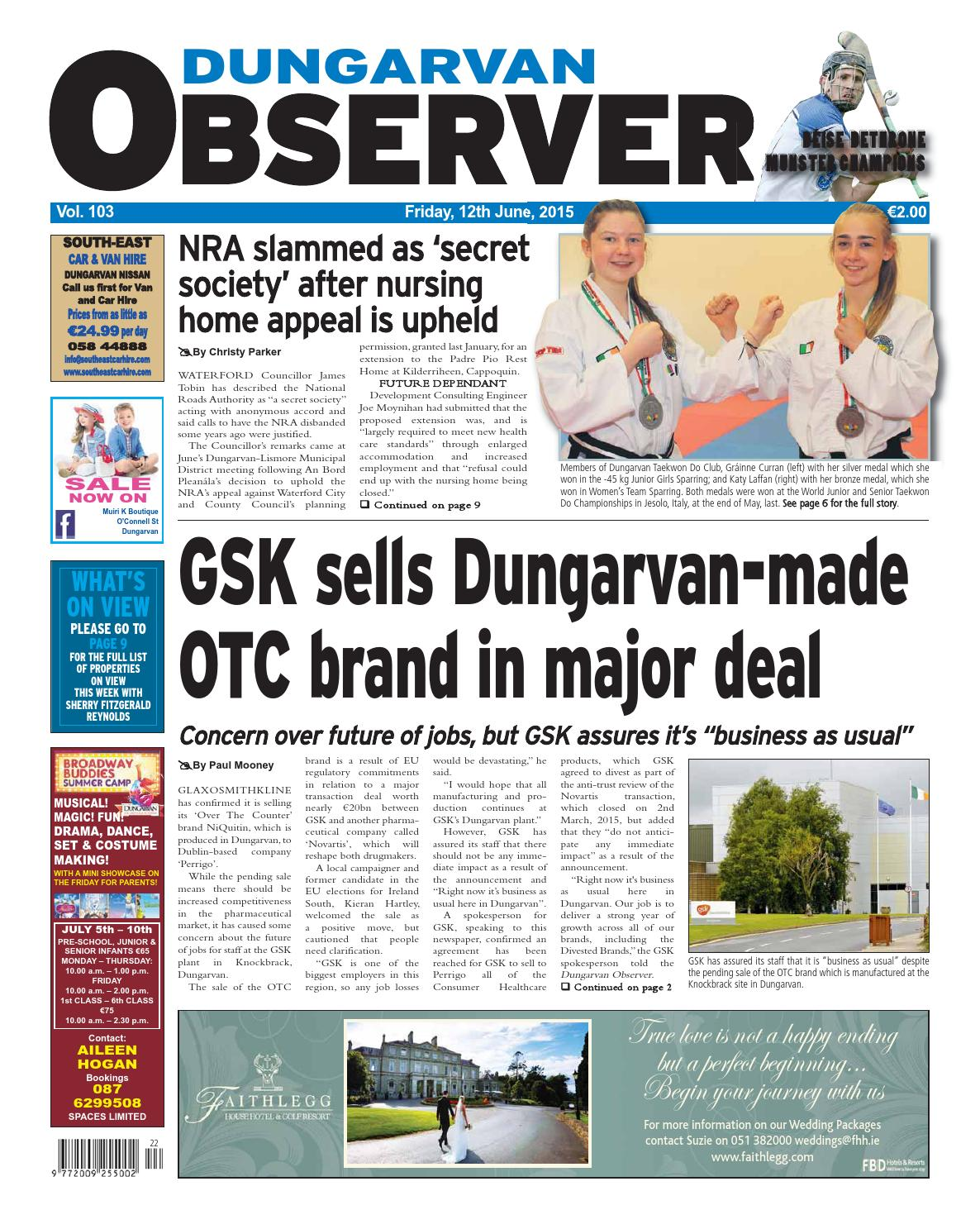 f13b371e49 Dungarvan observer 12 6 2015 edition by Dungarvan Observer - issuu