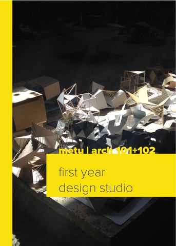 Basic Design Studio | Fall/Spring 2014 2015 By METU Architecture   Issuu