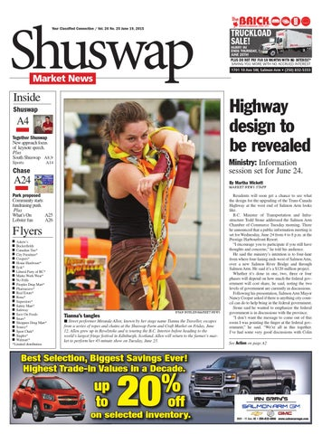 Salmon Arm Toyota >> Salmon Arm Observer June 19 2015 By Black Press Media Group Issuu