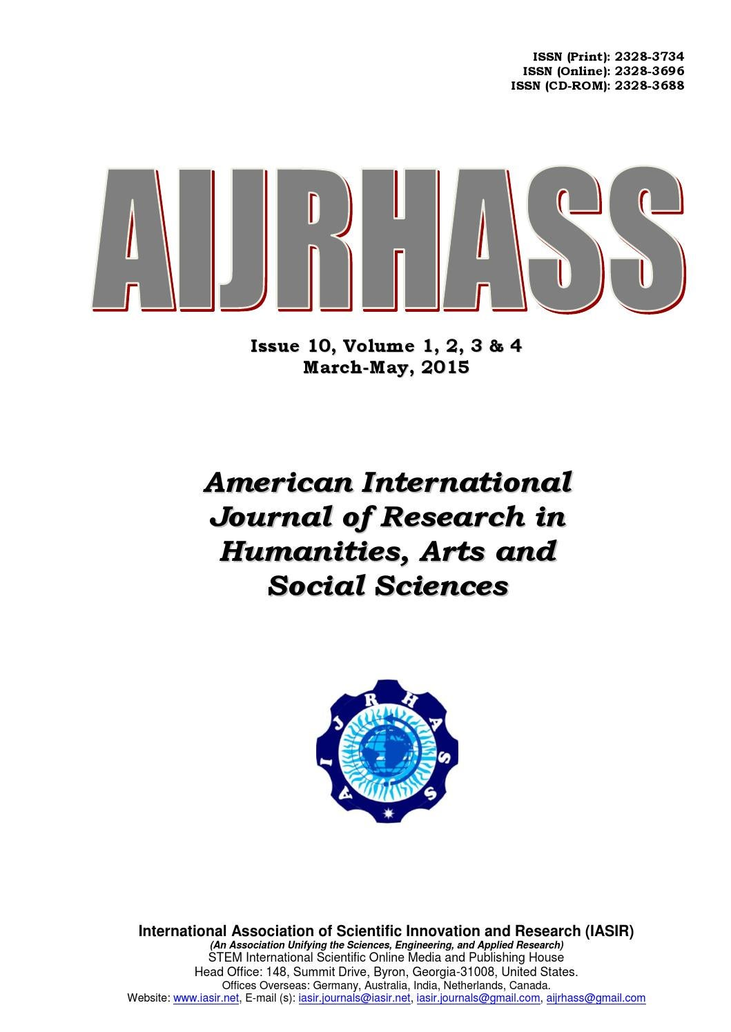 AIJRHASS issue 10 vol3 print by iasir journals - issuu