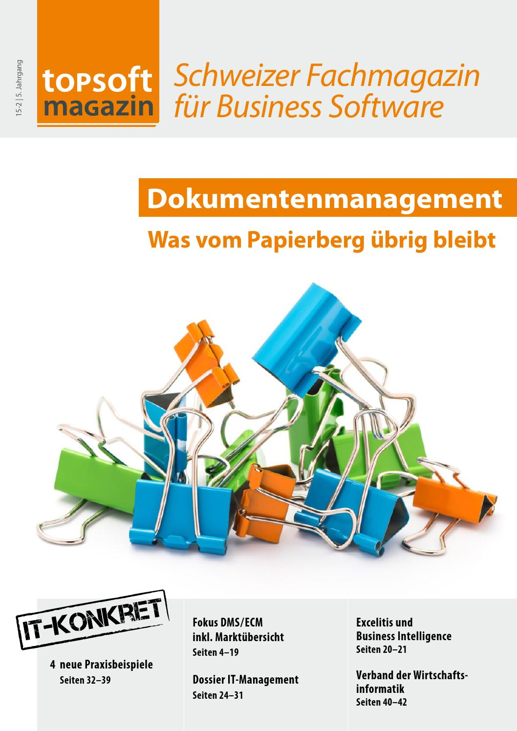 topsoft magazin 15-2: Dokumentenmanagement - was vom Papierberg ...