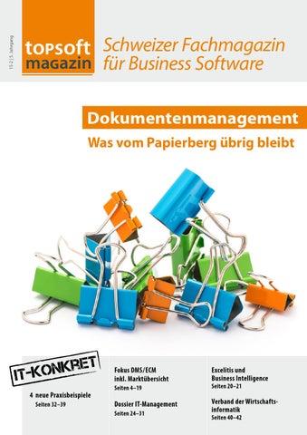 topsoft magazin 15-2: Dokumentenmanagement - was vom Papierberg ...
