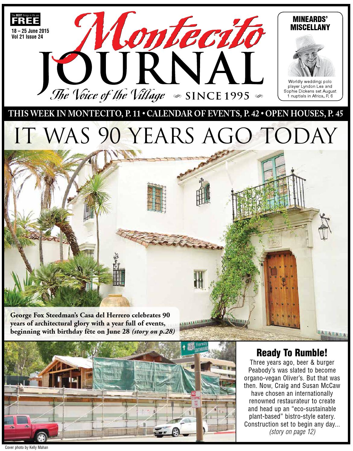 IT WAS 90 YEARS AGO TODAY by Montecito Journal - issuu