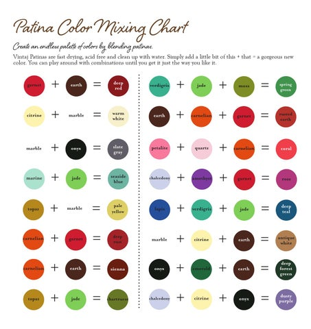 Patina Color Mixing Chart