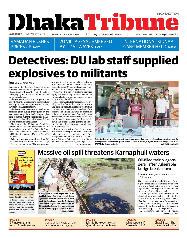 20 June, 2015 by DhakaTribune - issuu