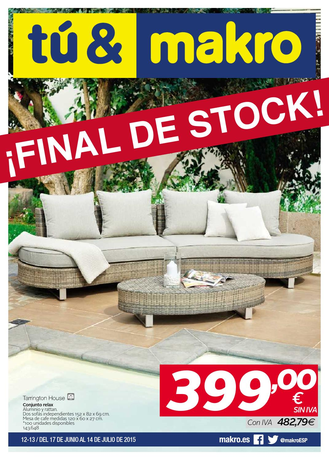 Makro espana ofertas final de stock peninsula by for Muebles jardin makro
