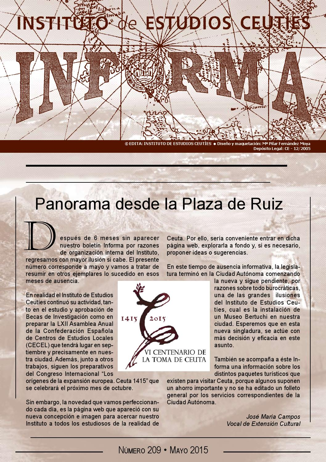 Boletín INFORMA 209 mayo 2015 by Qre@tivos - issuu