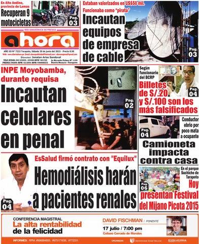 20 06 15 diario ahora tarapoto by Jonatan Arias - issuu 7073e5c133a8c
