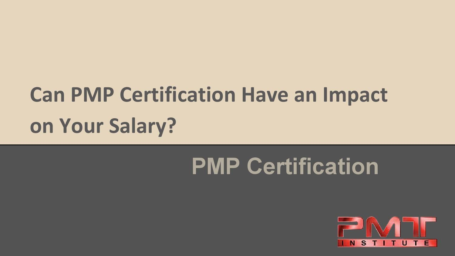 Can Pmp Certification Have An Impact On Your Salary By Project