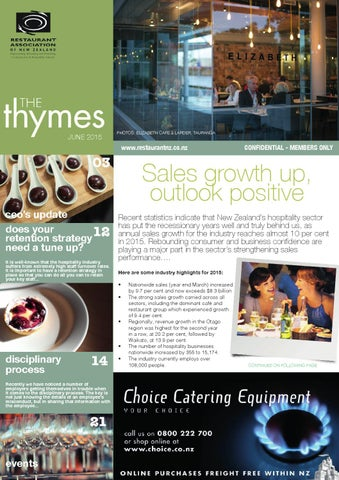 Restaurant Association newsletter, The Thymes (June 2015) by Nicola