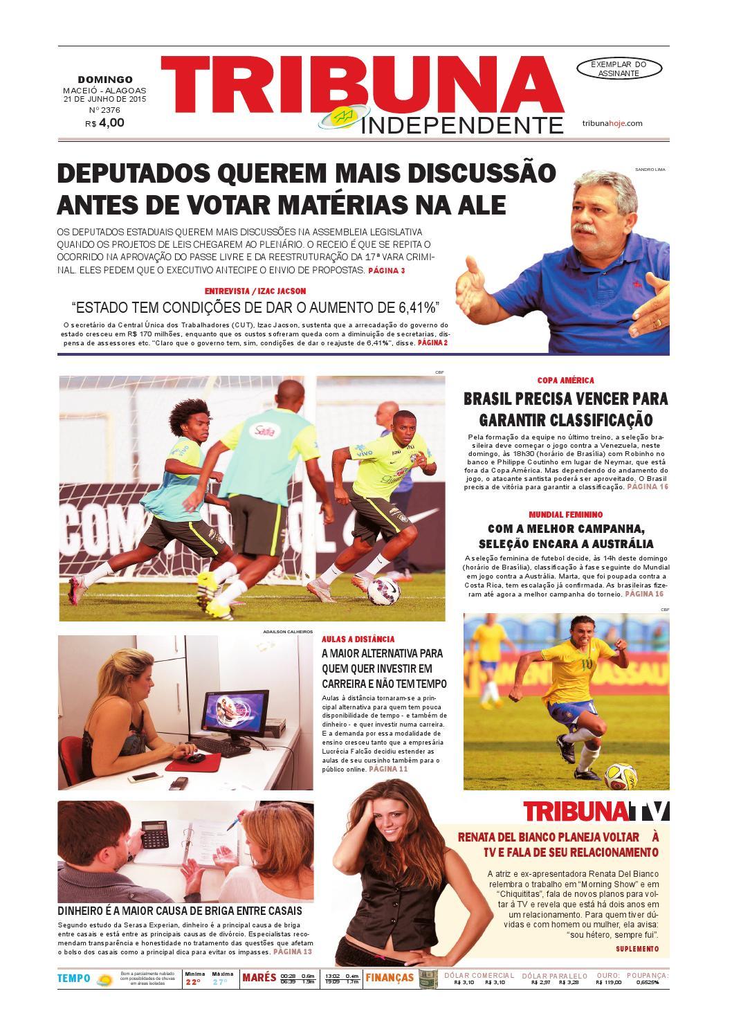 a93ac2f735 Edição número 2376 - 21 de junho de 2015 by Tribuna Hoje - issuu