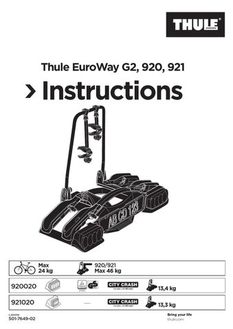 thule euroway instructions by attila moln r issuu. Black Bedroom Furniture Sets. Home Design Ideas