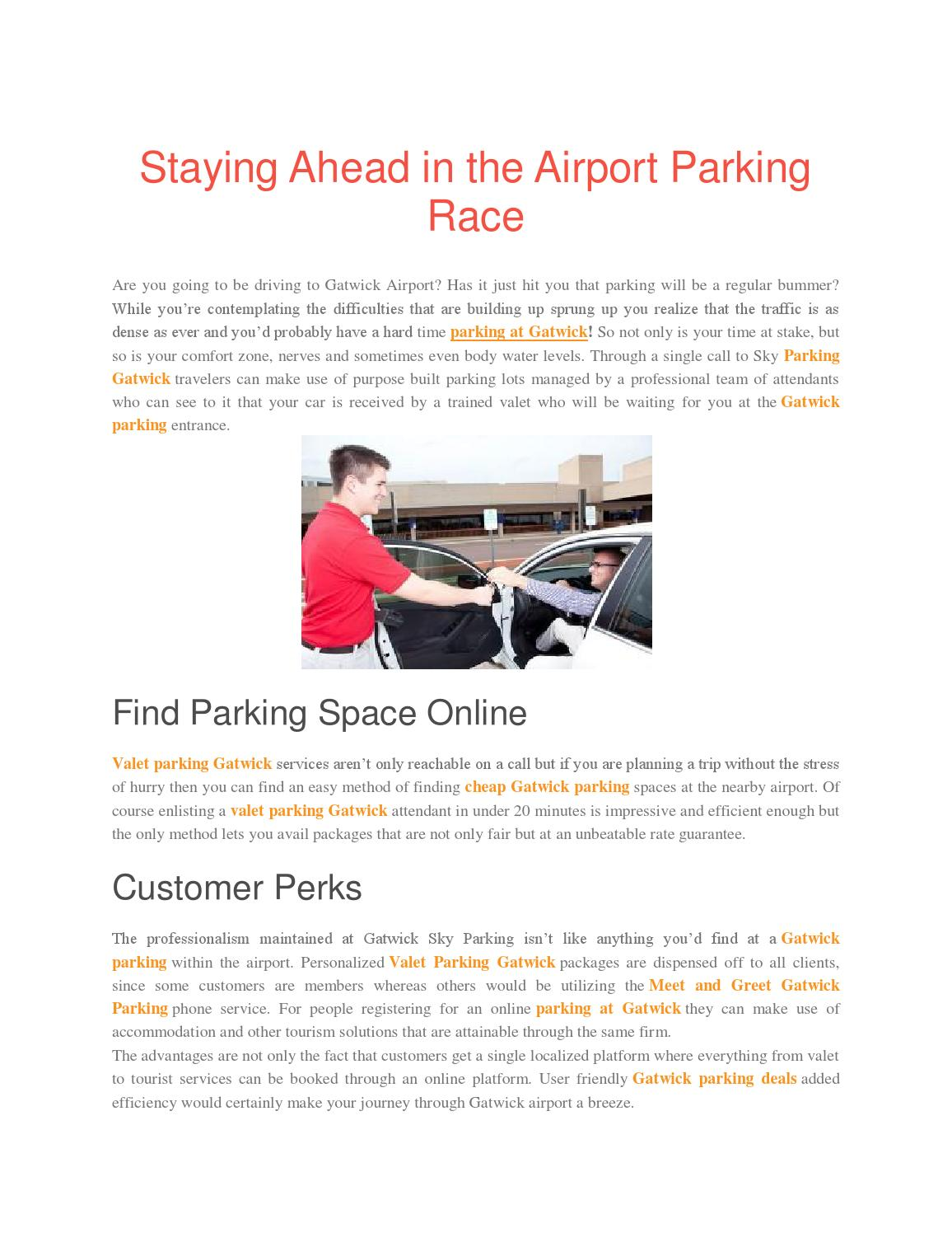 Staying Ahead In The Airport Parking Race By Lilyjames391 Issuu