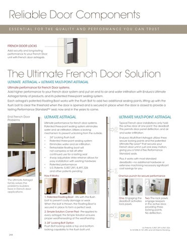 Reliable Door Components ESSENTIAL FOR THE QUALITY AND PERFORMANCE YOU CAN TRUST  sc 1 st  Issuu & Masonite Steel u0026 Fiberglass Door Catalog by Horner Millwork - issuu