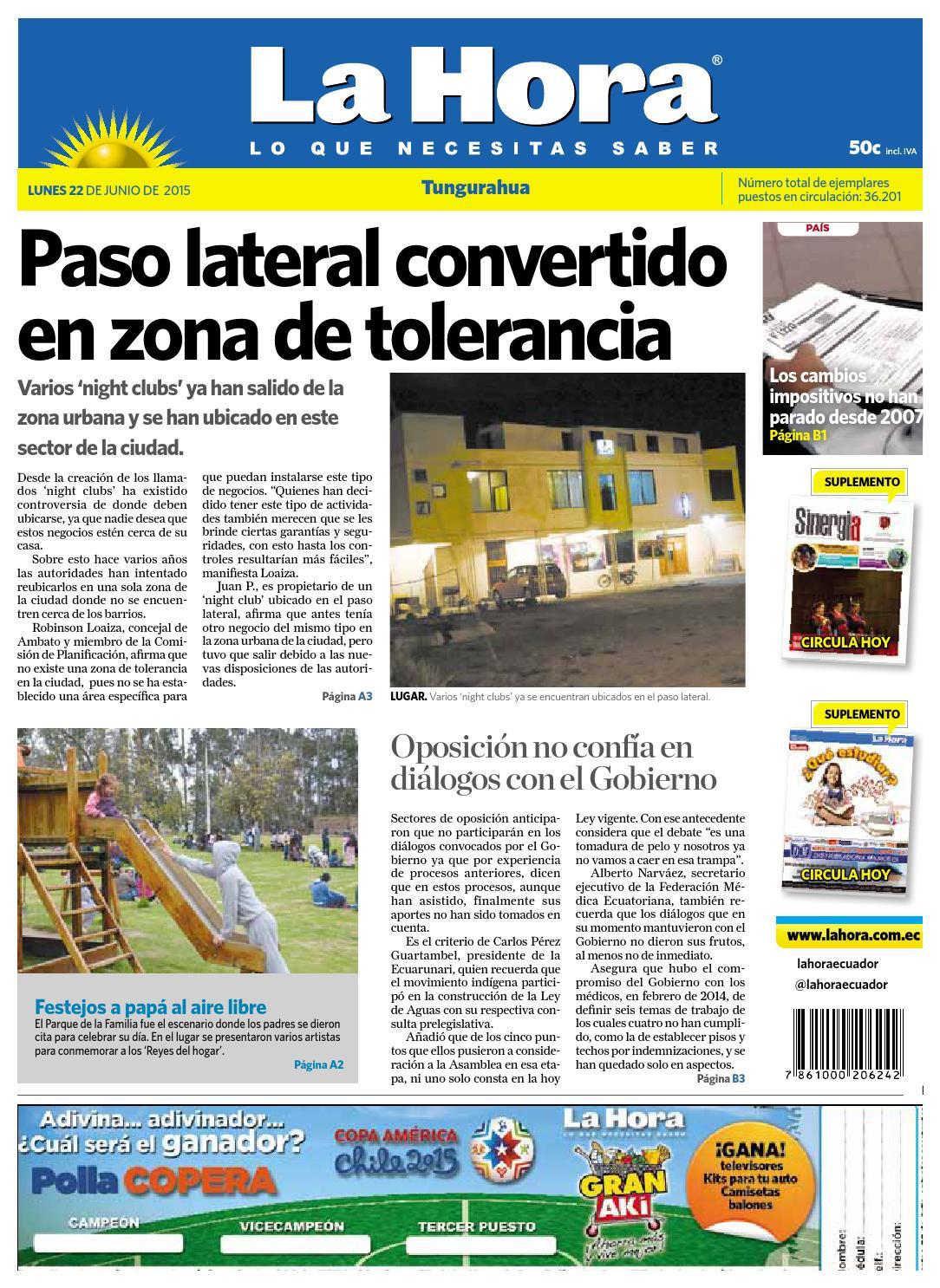 Ambato22dejunio2015 by Diario La Hora Ecuador - issuu d1c4478ebae74