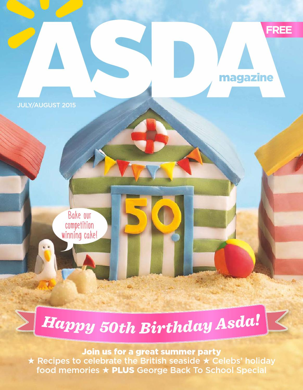 Asda Design Your Own Photo Cake : Asda Magazine - July/August 2015 by Asda - issuu