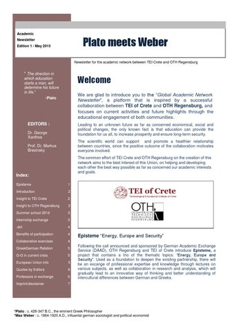 academic newsletter